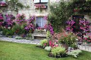 Blaye (gironde, aquitaine, france) : garden at summer Stock Photos