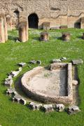 Thermae baths in Rome Stock Photos