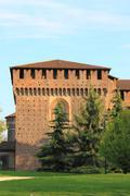 Milan castle bastion Stock Photos