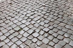 Very old roman pavement Stock Photos