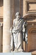 Statue of Saint Paul the Apostle Stock Photos