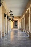 Colonnade in Corfu - stock photo