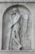 Meditating angel - stock photo