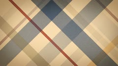 beige checked fabric loopable background - stock footage