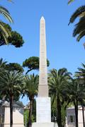 Egyptian obelisk in Villa Torlonia - stock photo