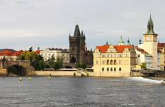 Charles Bridge in Prague Stock Photos