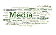 Stock Photo of Media Word Cloud