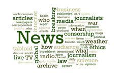 News Word Cloud Stock Photos