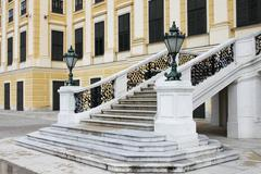 Staircase of Schonbrunn castle Stock Photos