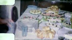 PASSOVER Seder Dinner JEWISH AMERICAN 1960 (Vintage Film Home Movie) 4835 Stock Footage