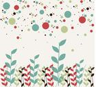 Floral and bubbles background Stock Illustration