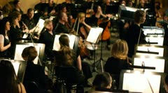 Orchestra tuning - stock footage