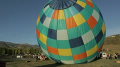 Balloon Inflating Snowmass Hot Air Balloon Festival, Colorado - stock footage