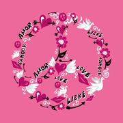 Peace and love symbol Stock Illustration