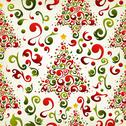 Christmas tree pattern Stock Illustration