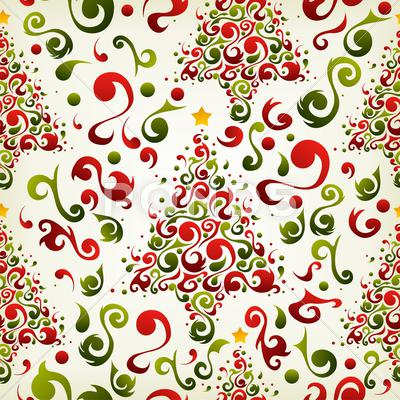 Stock Illustration of christmas tree pattern