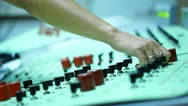 Subway control room Stock Footage