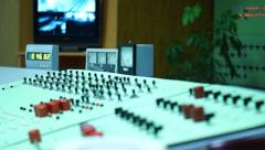 Subway control room - stock footage