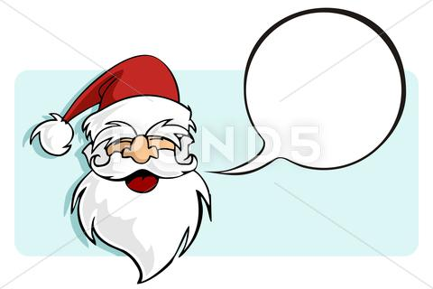 Stock Illustration of christmas series: santa claus with a blank comic balloon.