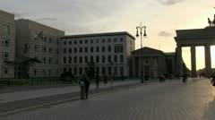 Germany - Berlin - Brandenburg Gate - stock footage