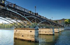 pont des arts. - stock photo