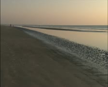 Early Morning View Across the Shore of the Beach - PAL Stock Footage