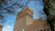 Stock Video Footage of Oslo Town Hall on a Sunny Day