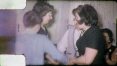 DANCING THE HORA Jewish Family 1965 (Vintage Old Film Home Movie Footage) 4843 - stock footage