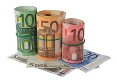 Euros banknotes Stock Photos