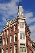 amsterdam home facade - stock photo