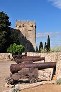 tarragona city walls - stock photo
