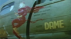 WW2-ColorFootage - Pictures on B-17 Bombers Stock Footage
