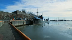 Oslo Harbor, Wide shot, Norwat - stock footage