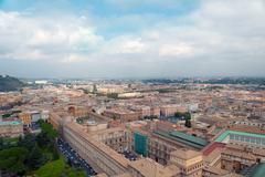 urban scene of rome - stock photo