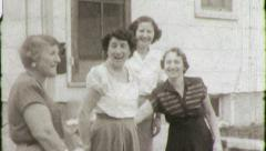 Italian American Immigrant Women Friends Vintage Film Retro Film Home Movie 4844 Stock Footage