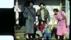 Baby Boom Post WAR FAMILY PORCH 1940s Vintage 8mm Film Home Movie 4847 Stock Footage
