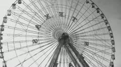 Ferris Wheel at State Fair Stock Footage