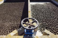 wastewater sanitation plant - stock photo