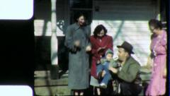 Working Class FAMILY PORCH 1940s Vintage 8mm Film Home Movie 4848 Stock Footage