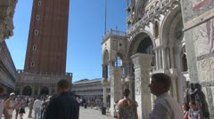 Crowds of tourists in Piazza San Marco Stock Footage