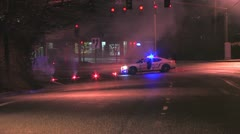 Police car with flares Stock Footage