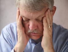 Senior man depressed.jpg Stock Photos
