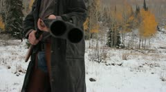 Looking down double barrel Stock Footage