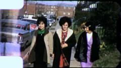 TEENAGE Girls Gang Best Friends BIG HAIR 1970s (Vintage Film Home Movie) 4828 Stock Footage