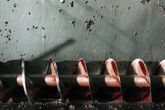 wine production screw auger - stock photo