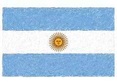 flag of argentina - stock illustration