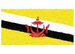 Flag of brunei Stock Illustration