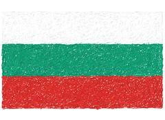 Flag of bulgaria Stock Illustration