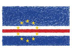 Flag of cape verde Stock Illustration