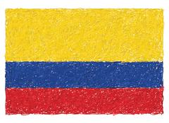 flag of colombia - stock illustration